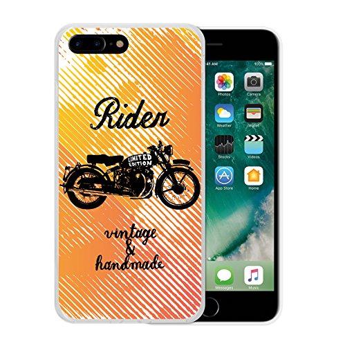 iPhone 7 Plus Hülle, WoowCase Handyhülle Silikon für [ iPhone 7 Plus ] Astronaut Gay Flagge Handytasche Handy Cover Case Schutzhülle Flexible TPU - Transparent Housse Gel iPhone 7 Plus Transparent D0422