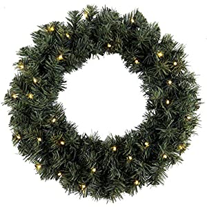 "Star""Ottawa"" 20 LED Wreath Colour Box, Warm White"