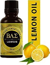 BAE Lemon Oil - Cold Pressed, 100% Pure and Natural Therapeutic Grade Essential Oil (30ml)