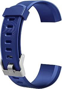 Bracelet Rechange pour Montre Connectée Homme, Accessoire de Montre Bracelet, Remplacement Coloré pour Montre Intelligente ID115Plus HR 215mm/20mm (Bleu)