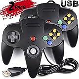 Controlador de juegos, mando juego controlador USB para PC Joystick USB de N64 bits para PC Windows Linux Raspberry Pi 3