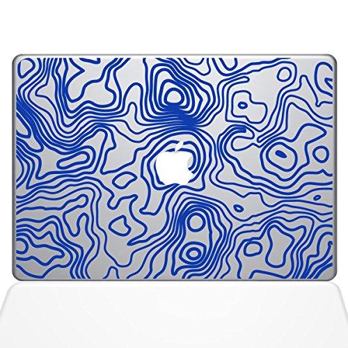 The Decal Guru Topographische Karte MacBook Aufkleber - 38,1 cm (15 Zoll) MacBook Pro (2016 und Neuer) - Dunkelblau (1287-MAC-15X-DB)