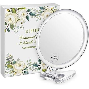 bestope kosmetikspiegel mit 24 led beleuchtung 10x vergr erungsspiegel schminkenspiegel. Black Bedroom Furniture Sets. Home Design Ideas
