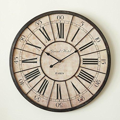 Y-Hui das Wohnzimmer Industrial Air Retro dekorative Wanduhr Uhr Home-Table Uhren, Bügeleisen ist groß, und die Andere, Durchmesser 60 Kein Glas keine zweite Hand (Zweite Hand Fahrrad)
