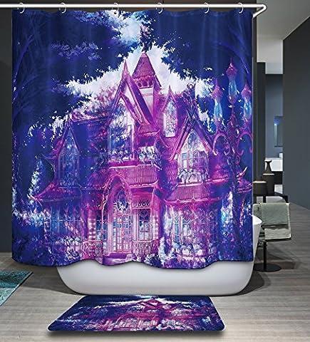 KISY Waterproof Mildew Resistant Bath Shower Curtain Purple Magical Fairy