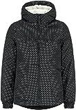 DESIRES Damen Winterjacke ELLIE Jacket Windbreaker Kapuzen-Jacke mit Punkten gefuettert Teddy, Frabe: (Schwarz) black (9000), Größe: XL