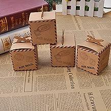 GEEDIAR® 12pcs DIY Dulces Caja Cartón Kraft de Caramelos para Regalo de Boda / Partido / la Decoración de la Navidad