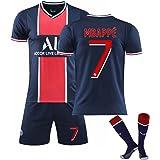 Heren jersey, 2021 tweede uit shirt, Mbappé 7#/Neymar 10# voetbalshirts kinder jersey pak, t-shirt+shorts+sokken