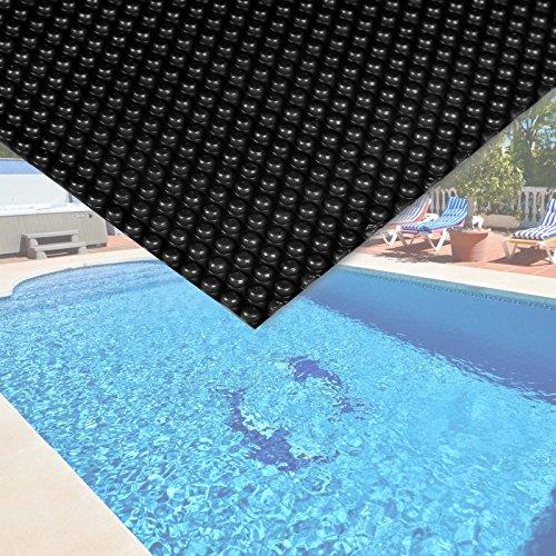 Bâche solaire à bulles pour piscine 4x6m Noire Protection Couverture Chauffage de piscine
