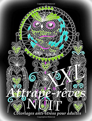 Attrape-reves NUIT XXL - coloriages pour adultes par The Art Of You
