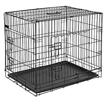 Kerbl Cage de Transport avec 2 Portes pour Chien Noir 76 x 54 x 64 cm