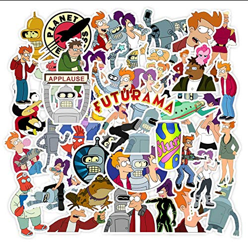 WYPR 150 Future Cartoon Stickers Autoaufkleber Gepäck Hebel Box Burst Doodle Stickers -
