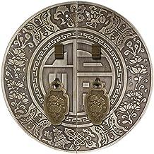 Aldaba,Manija de puerta gabinete antiguos Manija de cobre amarillo Aldaba de puerta china Vintage