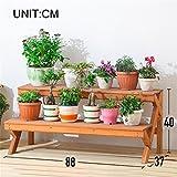 WYDM 2-Schicht-Blumenständer Pflanzenständer aus Holz vertikalen Blumenständer Eckzarge