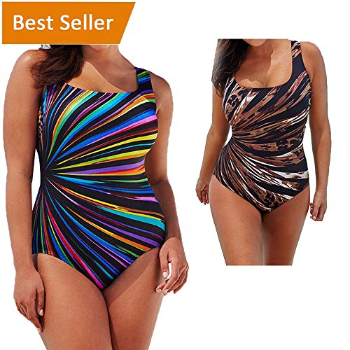 a0d0118e18 Hotsellhome Women's Plus Size Swimming Costume Padded One Piece Swimsuit  Monokini Swimwear Jumpsuit Push Up Bikini Sets Bathing Suit