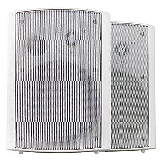 Pronomic USP-660 WH Paar HiFi Wandlautsprecher (2-Wege Boxen, Indoor/Outdoor, 6,5