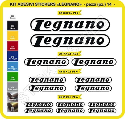 Adesivi Bici LEGNANO Kit Adesivi Stickers 14 Pezzi -Scegli SUBITO Colore- Bike Cycle pegatina cod.0102 (Nero cod. 070)