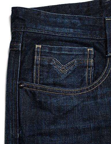 Replay Herren Slim Jeanshose Anbass Blau (Blue Denim 7)