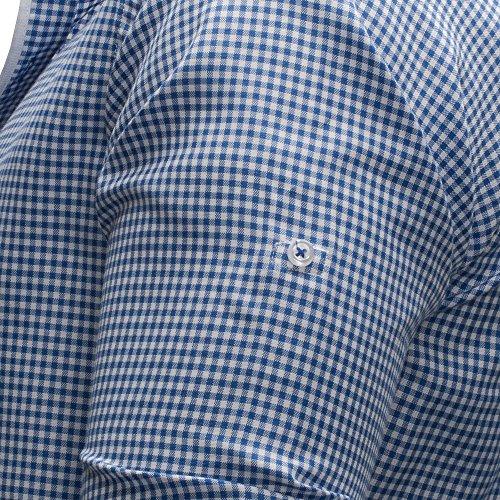 MERISH Herren Hemd Gingham Design Slim Fit Kariert Modell 141 Hellblau