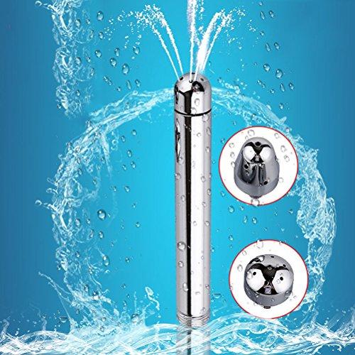 KAIMENG Enema Plug Enema Douche Analdusche Enemator mit 3 Duschköpfe Für Männer (Silber)