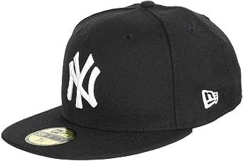 NEW ERA CAPS MLB BASIC NEW YORK YANKEES BLACK WHITE 7 1/2