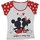 Ladies Disney Minnie/Mickey Mouse Cotton Pyjama Top Summer Nightwear Nightshirt