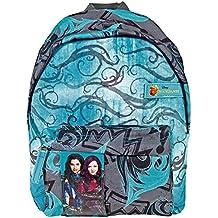 Perletti - Pequeña mochila con compartimiento frontal Los Descendientes, película de Walt Disney Pictures - 31 x 22 x 10 cm