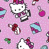 Hello Kitty Stoff–Hello Kitty Weihnachten pink–SC144–von 0,5m–100% Baumwolle