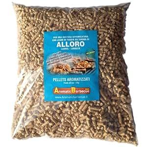 Aromatic Barbecue : Sacchetto da 4 kg. di pellets all'aroma alloro per affumicatura con barbecue.