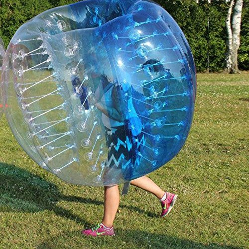 amazingsportstm burbuja parachoques pelotas de fútbol traje barato 5.6'1,7m para adultos/niños medio azul medio PVC transparente (1,2m 1,5m disponible)