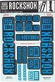 RockShox Aufklebersatz 35mm blau, Boxxer/Domain Doppelkrone, 11.4318.003.520 Ersatzteile Standrohre und Doppelbrücke