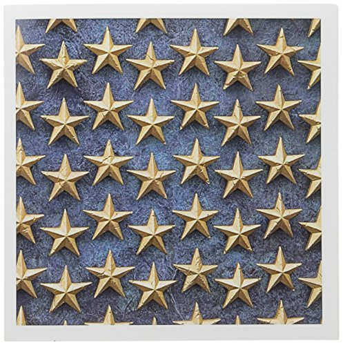 3drose 20,3 x 20,3 x 0,6 cm Field of Stars WWII Memorial Washington DC David R. Frazier Grußkarten, Set 12 (GC _ 88990 _ 2) (Field Memorial)