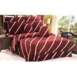 Hours Luxury Modern Comforter Set, 8 Pcs By Horus, King Size, Modern-7, Red, Material: Cotton
