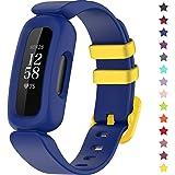 TopPerfekt Bandjes, compatibel met Fitbit Ace 3 voor kinderen, zachte siliconen waterdichte armband, accessoires, sporthorlog