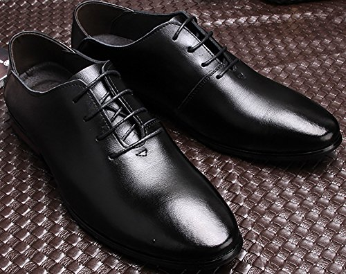 Odema Homme Chaussures habillees Tuxedo Cuir Doublure Classic Faux Suede Oxford Noir