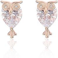 Orecchini a lobo per donna, orecchini a forma di orecchino di gufo per ragazze Orecchini in oro con diamanti o in…