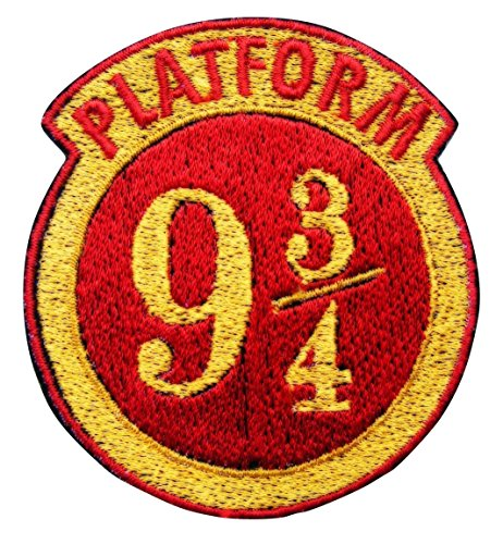 Platform 93/4Stickerei Patch Eisen auf oder Nähen auf Hogwarts House bestickt Motiv Harry Potter kingscross Plattform Transfer Aufnäher