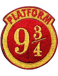 Plataforma 93/4Bordado parche hierro en o coser en Hogwarts casa bordado diseño de Harry Potter kingscross plataforma transferencia apliques