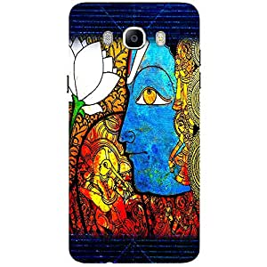 Graphic Blue Design - Mobile Back Case Cover For Samsung Galaxy J7 (2016)