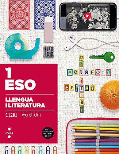 Portada del libro Llengua i literatura. 1 ESO. Clau Construïm