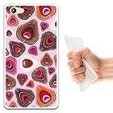 WoowCase Doogee Y300 Hülle, Handyhülle Silikon für [ Doogee Y300 ] Pfaufeder Handytasche Handy Cover Case Schutzhülle Flexible TPU - Transparent