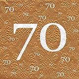 Servietten 70 Geburtstag mit Prägung 20 Stück, 3-lagig 33x33cm