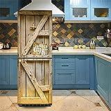 DIY Kühlschrank Aufkleber/Tür Aufkleber 3D Wasserdicht Abnehmbare Selbstklebende Wandbilder Decals Wall Art Home Dekoration,60 * 150CM