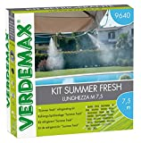 VERDEMAX 8015358096409 Kit Nebulizzatore Acqua Summer Fresh Arredo E Decoro del Giardino, Unica