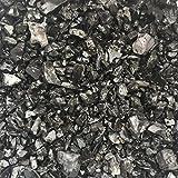 Zierkies 5/16mm, schwarz/anthrazit gerundet, Dekoration für Haus und Garten, 1 kg