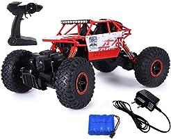 Popsugar Rock Crawler 1: 18 2.4GHz Remote Control Car 4WD Off Road RC Monster Truck Red