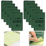 10 Paquetes Cuaderno Resistente Al Agua Para Todas Las Condiciones Climáticas, Bloc De Notas Táctico Bloc De Notas Superior N