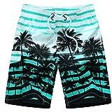 QinMM Shorts de Bain Hommes Boxer Trunks Designer Bermuda, Pantalon Court de Sport...