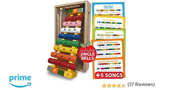 Bee Smart Xylophone Instruments De Musique Pour Bebe Instrument De Musique Xylophone En Bois Pour Les Enfants Presente En Boite En Bois 18