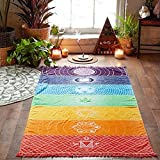 Mandala Toalla de playa – Esterilla de yoga toalla de arco iris tapiz Decor – Beach pared colgantes Colorful Home Decor, colorful